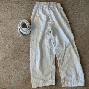 Other - Karate Judo Pants and Belt White Size 2